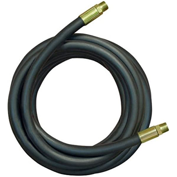 """3//8/"""" x 84/"""" Hydraulic 2 wire 5,000 PSI assembly with 2 male pipe 3//8 threads"""