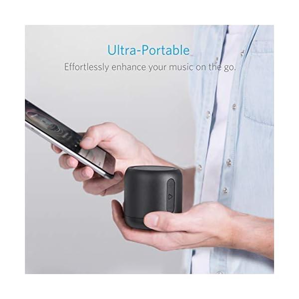 Anker SoundCore mini Enceinte Bluetooth Portable - Haut Parleur avec Autonomie de 15 Heures, Portée Bluetooth de 20 Mètres, Port Micro SD, Micro et Basses Renforcées 3
