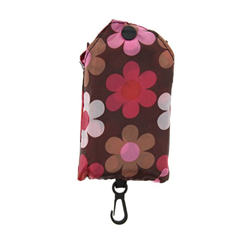 Pouch Shaded Zac's Ego Pocket Alter Bag Shopping With in Pink Brown Clippable Print Floral 00fPqr5