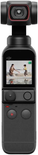DJI Pocket 2 - Cámara 4K con Estabilización en 3 Ejes, Vlog, Video UHD, Foto de Alta Resolución de 64 MP, Reducción del Ruido, Timelapse, Slow Motion, Livestreaming, Sin Tarjeta, Sin Extensor Rod