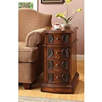 Williams Home Furnishing 4821 Oak Side Table, Brown