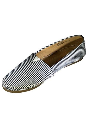 Zapatillas Slip-on Para Mujer De Adán Tucker, Azul Marino / Blanco