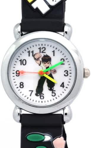 Timernall Original Ben10 Round White Dial Grey Kids Watches