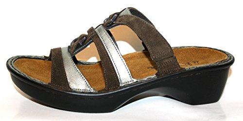 Naot - Zuecos de Piel para mujer Marrón marrón Marrón - Braun (braun/grau)