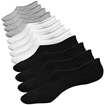 No Show Socks Summer Socks 6 Pairs Closemate Cotton Low Cut Loafer Casual Socks for Men & Women (Men Size: 4.5-11.5, Women Size: 5-12.5) (Men Size: 4.5-8.5, Women Size: 5-9, 2 Black 2 White 2 Grey)