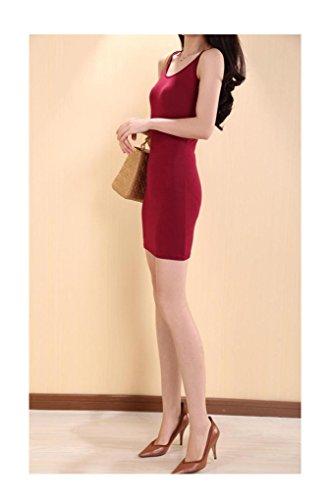 Donne Senza Vestito 1 Partito Di Con Del Arjosa Randello Mini Spaghetti Maniche Rosso Dal Bodycon Delle La Casuale Cinghia Vino f54qPY