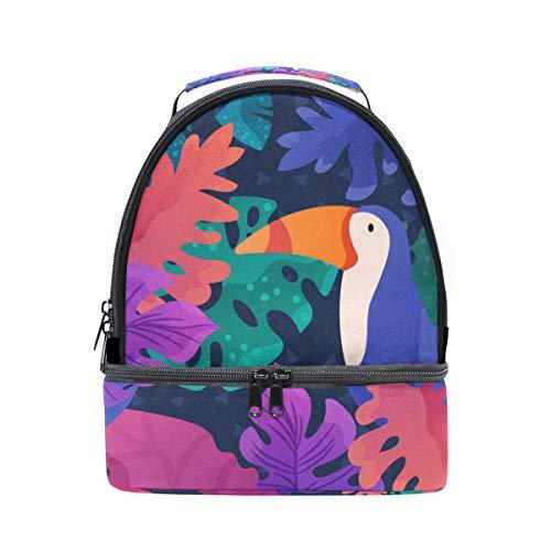 ajustable de pájaros correa Bolsa de Alinlo escuela pincnic tucán almuerzo la de diseño para con térmica para el q708q