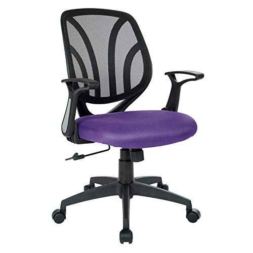 Task Back Chair Screen (Work Smart EM69202N-512 Screen Back Office Chair, Purple)