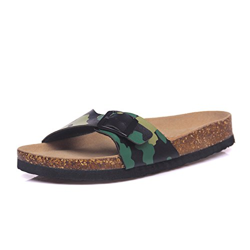 Flat Flip Color Summer Jwhui with Beach Women Plus Size Slides Flops Casual 14 Cork Slipper Shoe Sandals Mixed 8zzqO