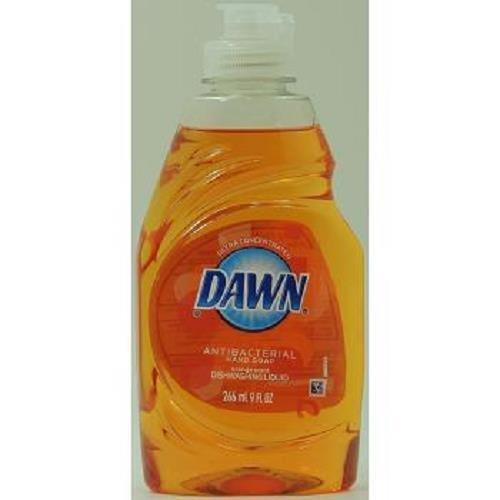 Dawn Ultra Antibacterial Hand Soap Dishwashing Liquid, Orange Scent, 9 Oz (Pack of 4)