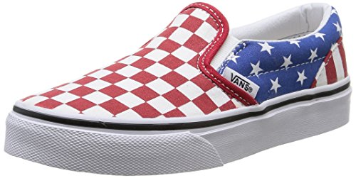 Vans - Kids Classic Slip-On Shoes, Size: 11.5 M US Little Kid, Color: (Stars & Stripes) True Red/Classic Blue
