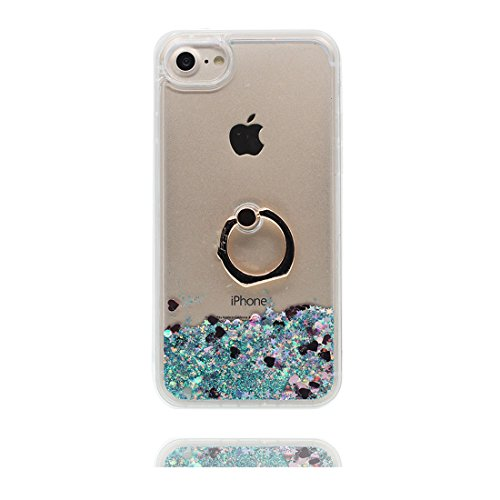 "Hülle iPhone 6, iPhone 6S Handyhülle Cover (4.7 zoll), [Liquid Fließendes Glitzer Bling Bling Floating sparkles] iPhone 6 Case Shell (4.7"") Ring Stand Ring Holder- Anti-Beulen & Touchstift"