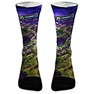 Elevate Apparel and Gear Fortnite Victory Royale Athletic Compression Socks | Dri-Fit Battle Royale Socks