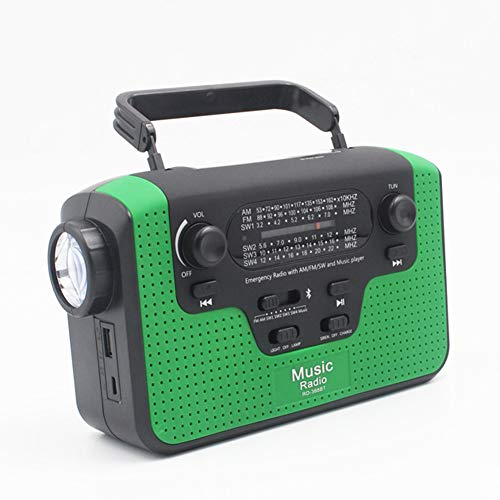 Solar Crank Radio Flashlight Charger Led Reading Light in US - 4