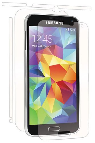 BodyGuardz UltraTough Full Body Protection with Anti-Microbial for Samsung Galaxy S5 - Retail Packaging - Clear ()