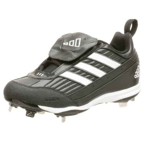 Adidas Man Diamant Kung Låg Baseball Skor Svart Vit