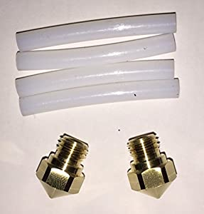 FlashForge FFH001 2 Nozzles and 4 Teflon Tubes kit for FlashForge Creator Pro and Dreamer (Pack of 6) from ZHEJIANG FLASHFORGE 3D TECHNOLOGY CO.,LTD