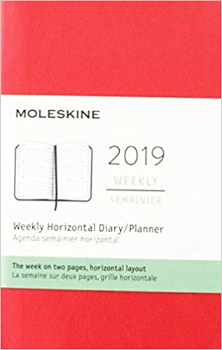 Moleskine Red Weekly Horizontal 2019 Diary/Planner: Amazon ...