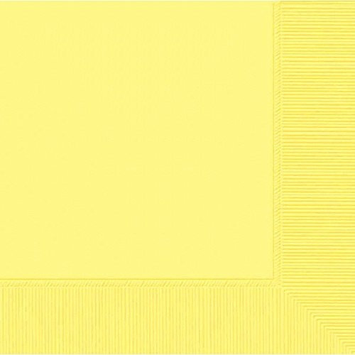(Light Yellow 2-Ply Beverage Napkins | Pack of 50 | Party Supply)