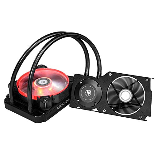 GPU Cooling Fan,Alloet Frostflow 120VGA 120mm GeForce GTX 4pin GPU Radiator Water Cooler for Game VGA Card, LED Lighting, nvidia and ATI