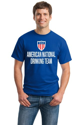 AMERICAN NATIONAL DRINKING TEAM Unisex T-shirt / Funny USA / America Beer Tee