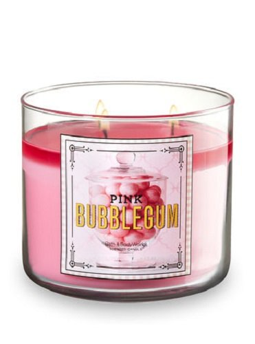 Bath and Body Works 3-Wick Pink Bubblegum Scented Candle 14.