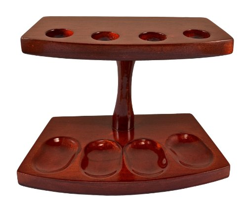 """7.5""""x5"""" Shire Pipe™ Rosewood Pipe Stand (Holds Four Pipes) by Shire Pipe (Image #1)"""