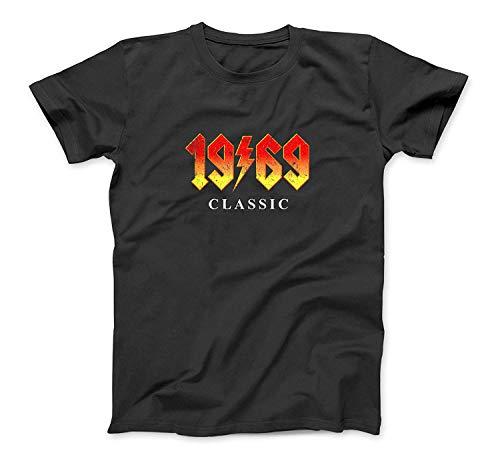 50th Birthday Gift T Shirt 1969 Classic Rock Legend Black