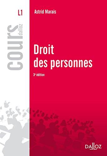 Droit des personnes (Cours) (French Edition)