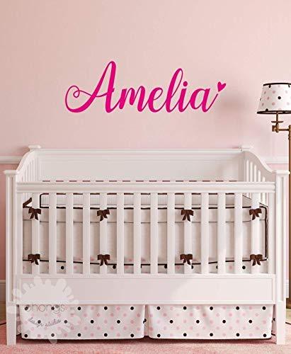 - A Girls Name Decal/Custom name sticker/Personalized Wall Decal/Baby Name Decal/kids name sticker