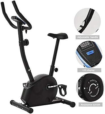 WuoooLi Bicicleta Estática Profesional,Pantalla LCD, Pulsómetro, Resistencia Variable, para Hogar y Oficina para Ejercitar Piernas Brazos,Sillín Ajustable, Máx.200kg: Amazon.es: Hogar