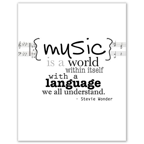 Bulletin Board Music (My Vinyl Story Stevie Wonder Music Motivational Inspirational Wall Art Posters Print Quote Decor for Home Gym Office Classroom Decoration Encouragement Gift (8x10 inch Print only))