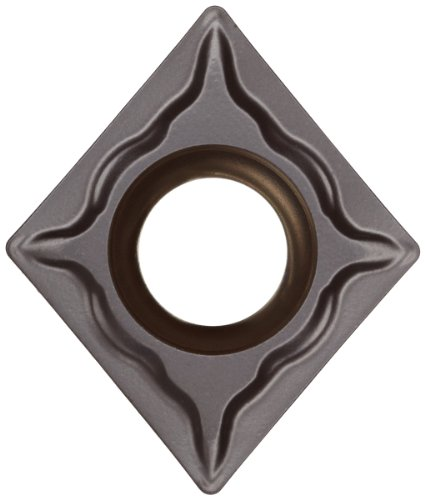Sandvik Coromant T-Max U Carbide Turning Insert, CPMT, 80 Degree Diamond, UM Chipbreaker, GC4225 Grade, Multi-Layer Coating, CPMT 3(2.5)1-UM, 3/8'' iC, 0.0157'' Corner Radius (Pack of 10) by Sandvik Coromant