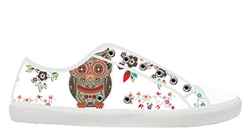 Womens Canvas Låga Sneakers Med Day Of The Dead Temat Duk Kvinnor Shoes11