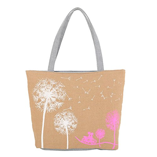 Tote shopper Zipper Canvas Off white 4Colors Bag Purple Hjuns Cozy Boat Shoulder w711XqR