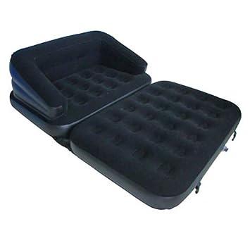 Sofá cama hinchable 5 en 1 de doble asiento, para 2 personas ...