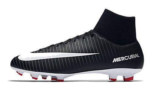 Nike Mercurial Victory Vi Df Fg, Zapatillas de Fútbol para Hombre Negro (Black/white/dk Grey/univ Red)