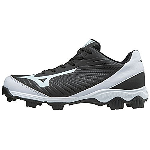 Mizuno (MIZD9) Men's 9-Spike Advanced Franchise 9 Molded Cleat-Low Baseball Shoe, Black/White, 8 D US