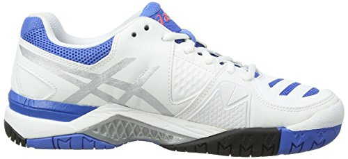 Asics Gel-Challenger 10, Women's Tennis Shoes White/Silver/Powder Bluer