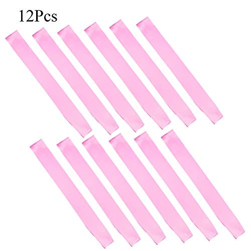 Counting Mars 12 Pcs Pink Blank Satin Sash for DIY, Bachelorette Party Decorations and Wedding