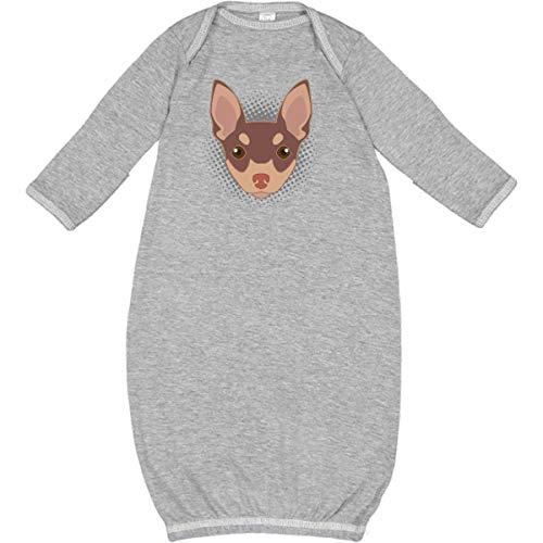 Apparel Layette (inktastic - Toy Fox Terrier Dog Newborn Layette Heather 32071)