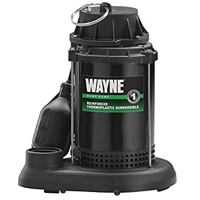 WAYNE SPT50 Reinforced Thermoplastic Submersible Sump Pump With Tether Float Switch
