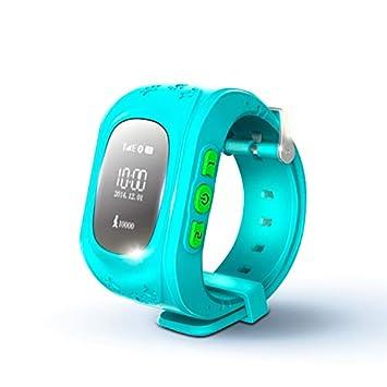 KawKaw Q50 GPS Kids Smartwatch con botón SOS para niños y ...