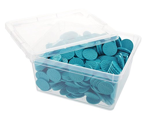 En-Joy embossed plastic tokens - 500 coins - 29 mm - Turquoise Flower
