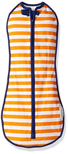 (The Original Woombie Baby Cocoon Swaddle (Big Baby (14-19 lbs), Orange Stripe))
