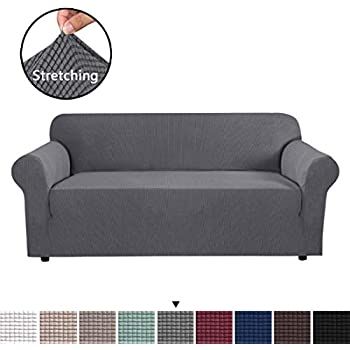 Amazon.com: Turquoize Suede Sofa Cover Grey Sofa Slipcover ...