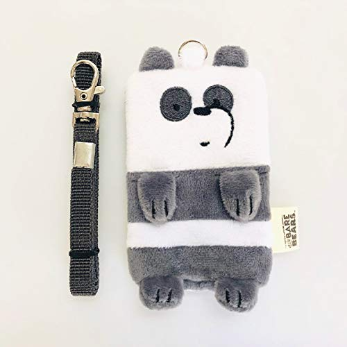 - Badge Holder, We Bare Bears - Slim One Sided Simple PU Fleece ID Badge Card Holder Wallet Case with 1 ID Window, 18