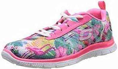 Skechers Womens Flex Appeal Floral Bloom PinkMulti Trainers