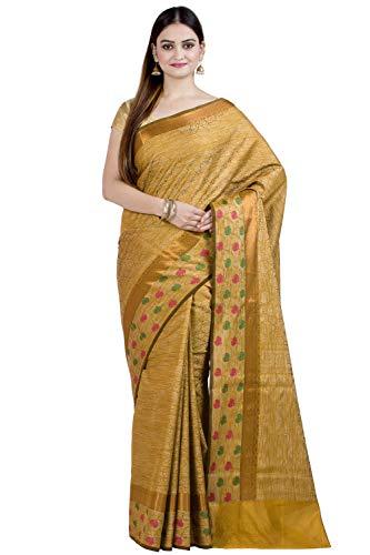 (Chandrakala Women's Brown Art Silk Banarasi Saree,Free Size(1308BRO) )