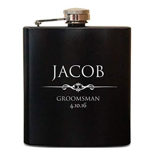 (Personalized Groomsmen Gift, Engraved Groomsmen Flasks, Wedding Party Gift Flasks, Personalized Flask, Best Man Gift)